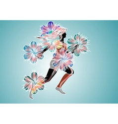 spring excercise vector image