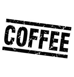 Square grunge black coffee stamp vector