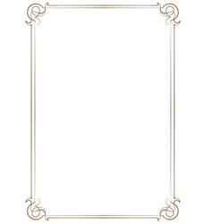 Vintage vertical frame vector image vector image