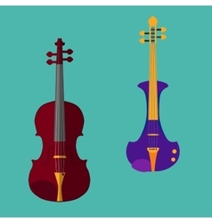 Violin set vector image vector image