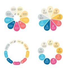 Circular infographics with 9 sections vector