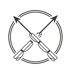 Harpoon fishing equipment icon vector