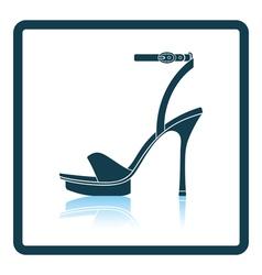 Woman high heel sandal icon vector image