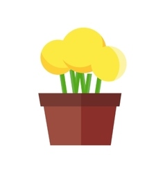 Flowerpot in flat design vector