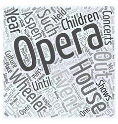 Aspen nightlife the wheeler opera house word cloud vector