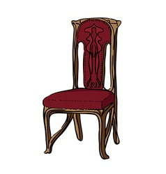 1900 style decorated chair vector