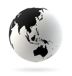 earth globe symbol vector image
