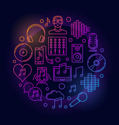 dj colorful linear vector image