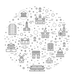 Building icons set government vector