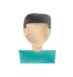 drawing guy faceless character vector image