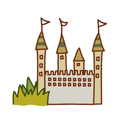 A castle stand on vector image