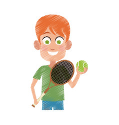 happy young boy icon image vector image