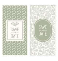 Retro invitation templates patterned background vector
