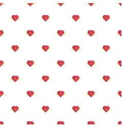 Heart beat pattern seamless vector