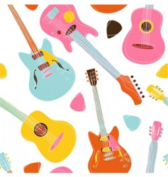 Guitar pattern vector