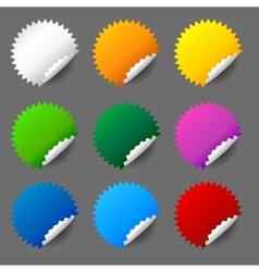 Blank round sticker set vector image