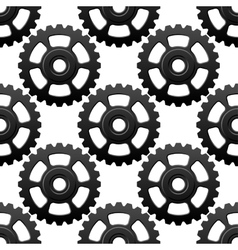 Gear wheels or cogwheels seamless pattern vector