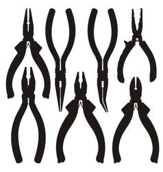 Pliers icons vector