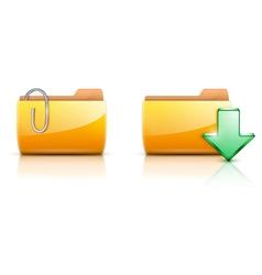 Folder buttons vector
