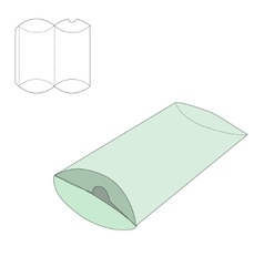 Pillow folding box vector