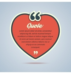 Red heart with quote message vector
