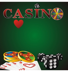 Casino green vector