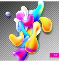 abstract bright colorful plasma drops shapes vector image