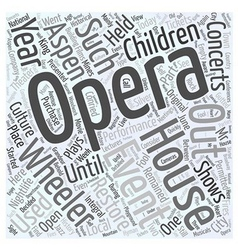 Aspen nightlife the wheeler opera house word cloud vector
