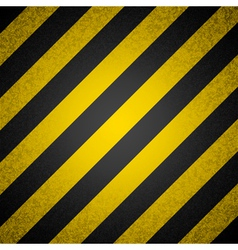 background - black and yellow hazard stripes vector image