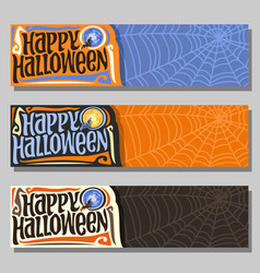 banners for halloween holiday vector image vector image