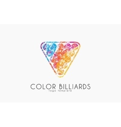 Billiard ball logo billiard logo color ball logo vector