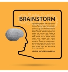Brainstorm creative thinking background concept vector