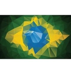 Brazilian flag made from polygons vector image vector image