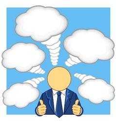 businessman thumb up and thinking vector image