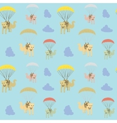 Cartoon cat seamless pattern vector