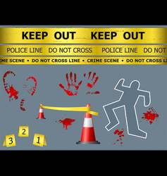 crime scene objects vector image vector image