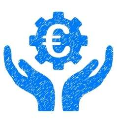 Euro maintenance hands grainy texture icon vector