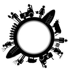 farm frame icon vector image