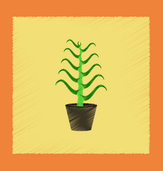 Flat shading style plant aloe vector