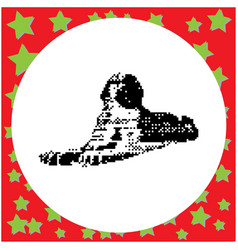 Great sphinx in giza egypt vector