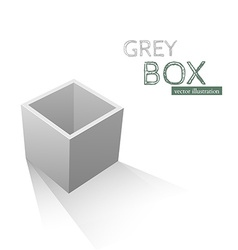 Grey Box isolated on white background vector image vector image