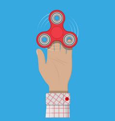 hand spinner antistress toy fidget spinner vector image
