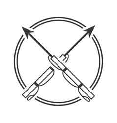Harpoon fishing equipment icon vector