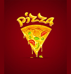 Italian pizza with cheese vector