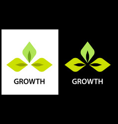 Logo company engaged in the cultivation of plants vector