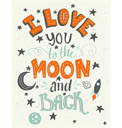 Love you to the moon vector