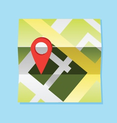map and pin vector image vector image
