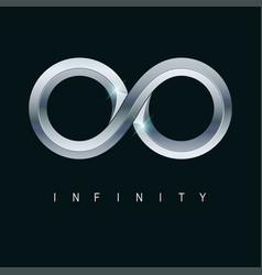 metallic infinity vector image