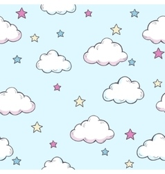 Pattern with clouds vector