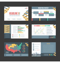 Presentation Templates Banner Set vector image
